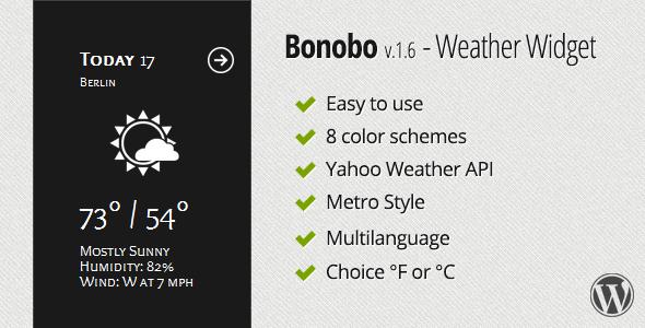 Bonobo-Weather-Widget