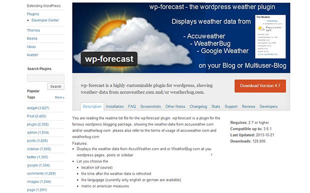 WP-Forecast-WordPress-Weather-Widget