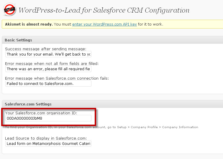 WordPress-to-Lead-Paste-Salesforce-ID