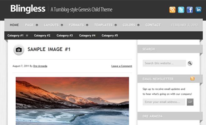 blingless-studiopress-genesis-wordpress-child-theme