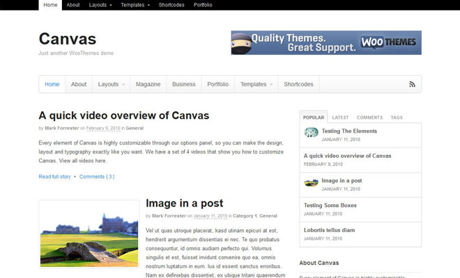 canvas-responsive-minimal-wordpress-theme