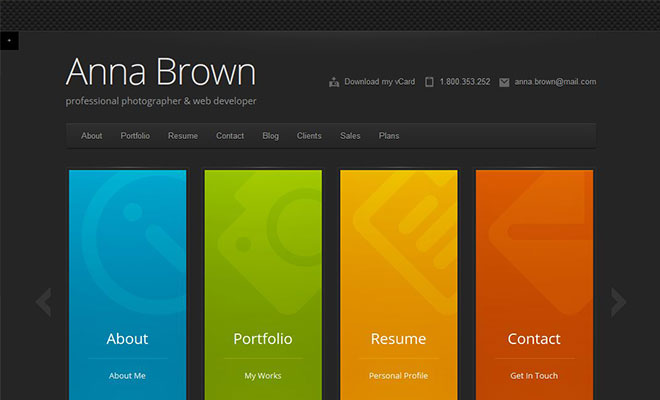 cascade-personal-vcard-wordpress-theme