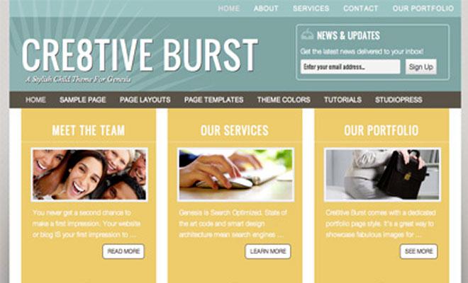 creative-burst-studiopress-genesis-wordpress-child-theme