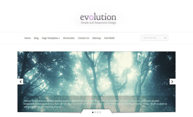 evolution-responsive-minimal-wordpress-theme