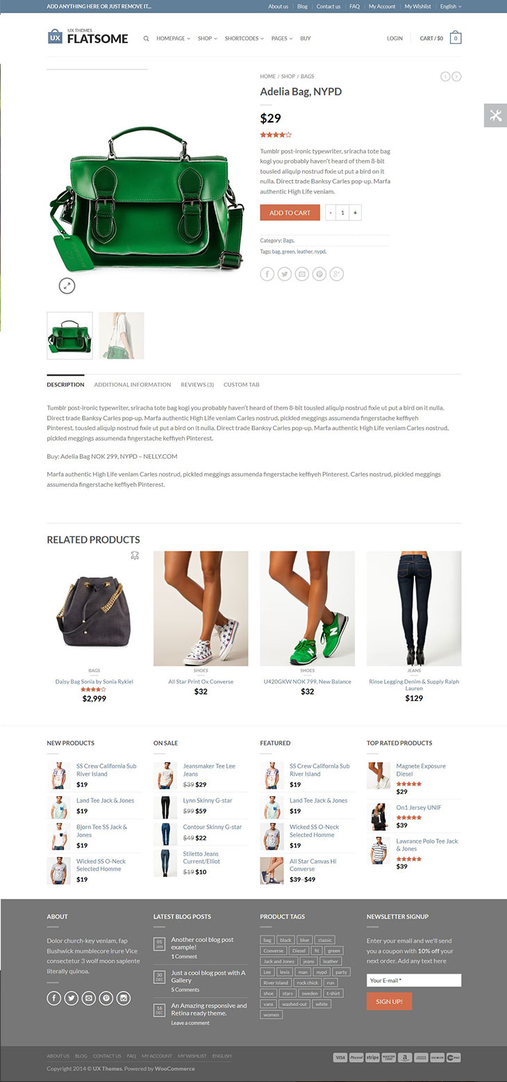 flat-responsive-woocommerce-theme-product-page