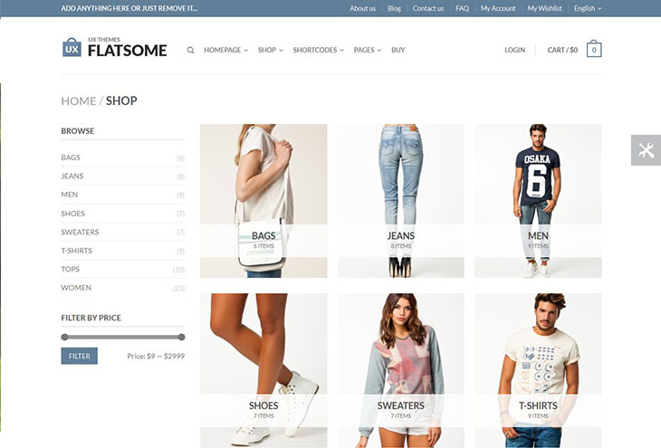 flat-responsive-woocommerce-theme-shop-page