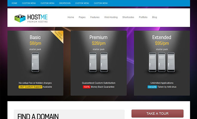 hostme-wordpress-hosting-theme