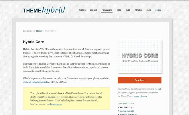 hybrid-core-wordpress-theme-framework