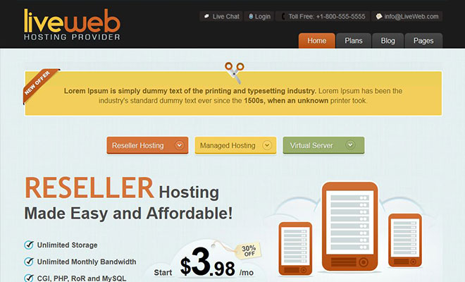liveweb-wordpress-hosting-theme