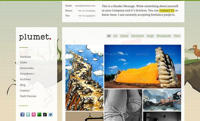 plumet-wordpress-responsive-portfolio-theme