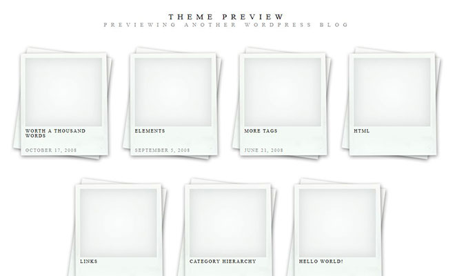 polaroids-free-wordpress-theme