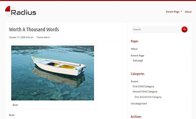 radius-free-wordpress-theme
