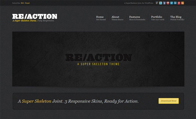 reaction-responsive-minimal-wordpress-theme