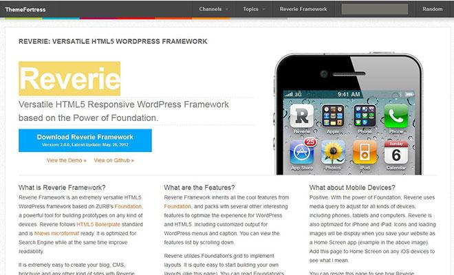 reverie-html5-responsive-wordpress-theme-framework
