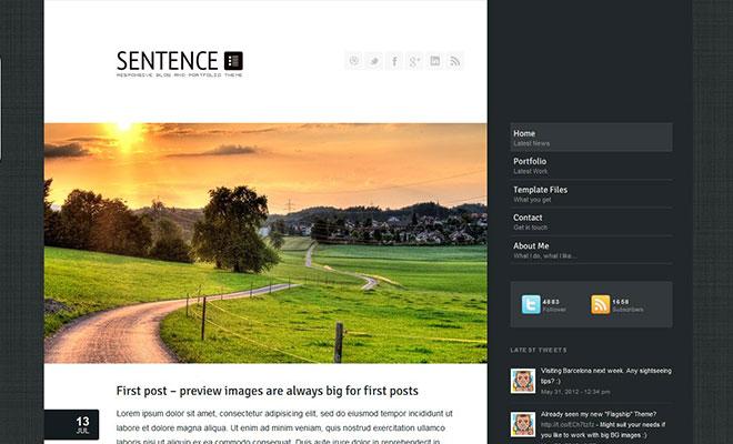 sentence-responsive-wordpress-portfolio-theme