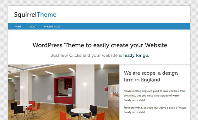 squirrel-free-wordpress-theme