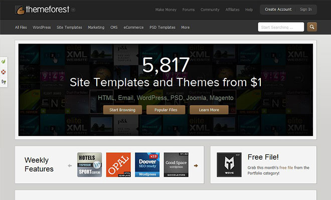 6 WordPress Theme Marketplace Sites To Buy WordPress Themes ...