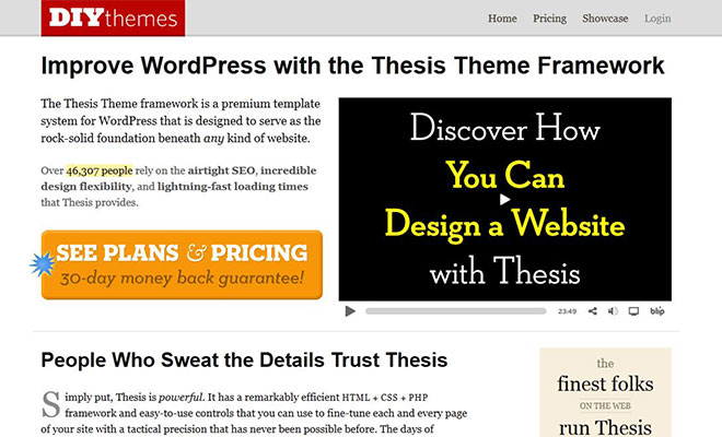 thesis theme framework for wordpress