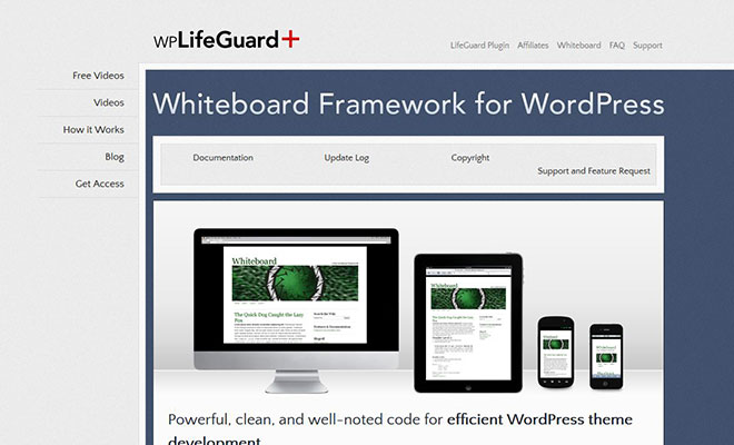 whiteboard-wordpress-theme-framework