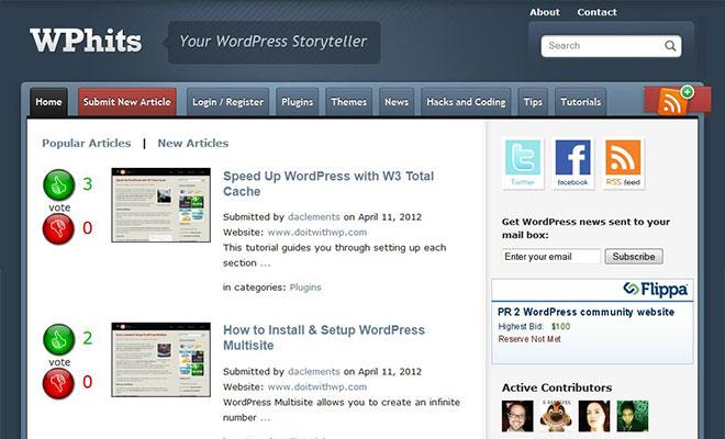 wphits-wordpress-social-bookmarking-site